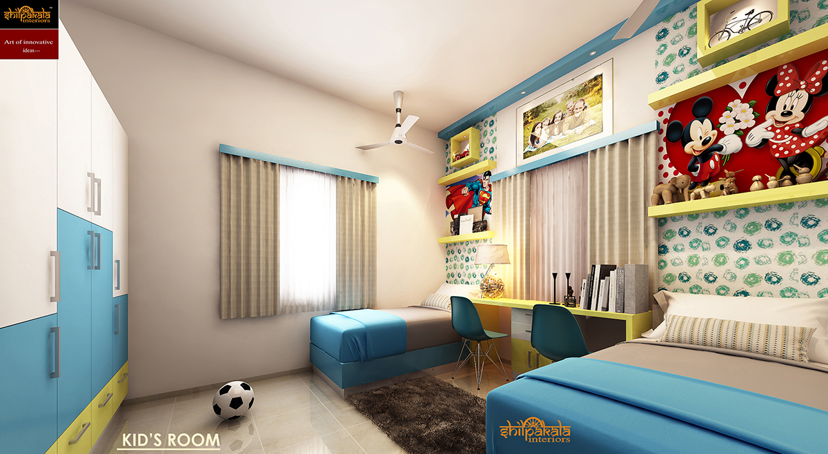 Four Bedroom Interior Design Turn Key Packages For Home Kerala House Wiring Materials 4 Package